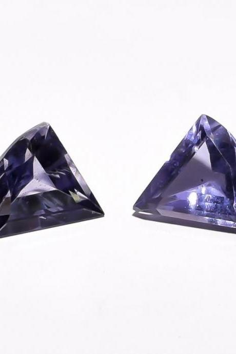AAA Quality Natural Iolite Fancy Cut/Faceted Loose Gemstone /1 Pair Price/ 8X8X5 mm /SL-164