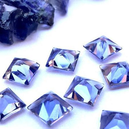 100% Natural Iolite AAA quality cut stone (Water Sapphire) Square Princess cut/ 5 MM/ 25 Pcs Price